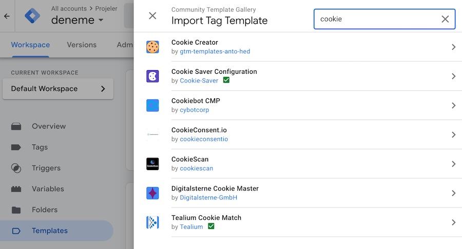 Google Tag Manager ve Cookie Araçları