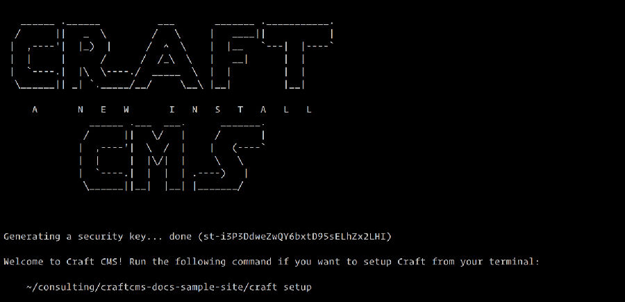 Craft CMS Command Line