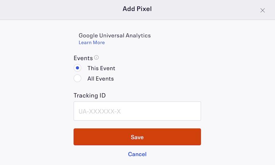 Eventbrite Event Tracking Pixel