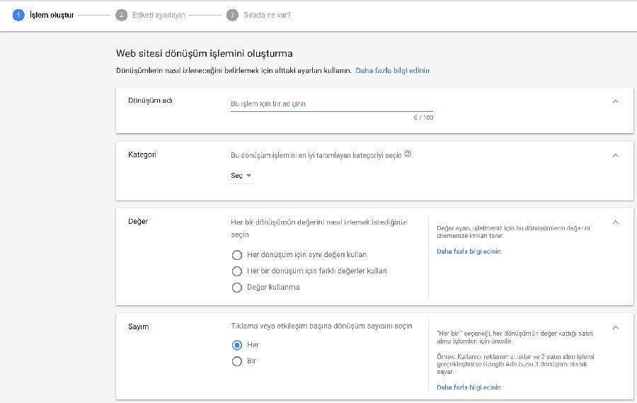 Google Ads Dönüşüm Kodu Kurulumu