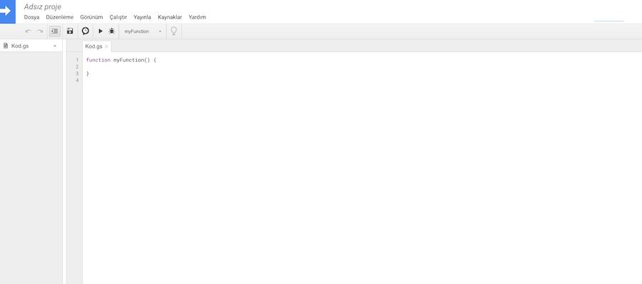 Google Apps Script Editor