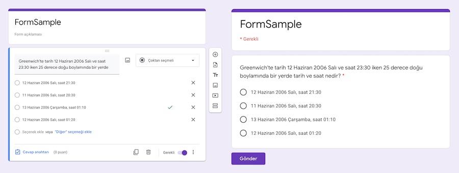 Forms Service - Apps Script
