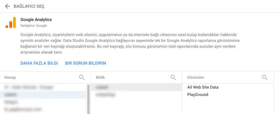 Google Data Studio Analytics Bağlantası