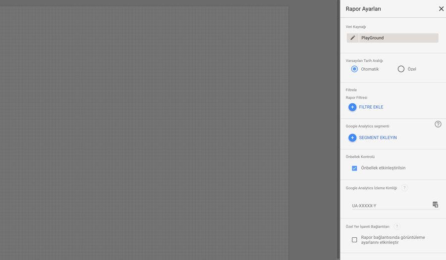 Google Data Studio Rapor Ayarları