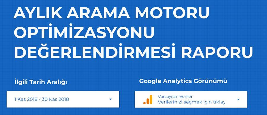 Google Data Studio Raporu