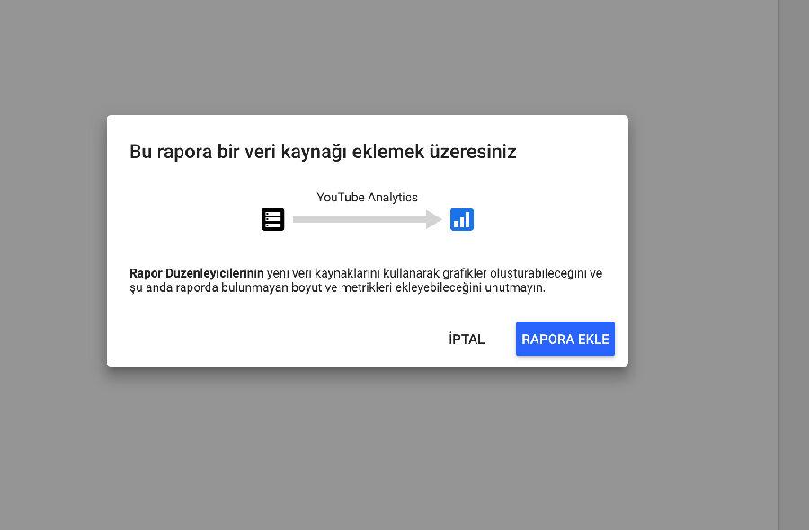 Google Data Studio - Veri İşlemleri