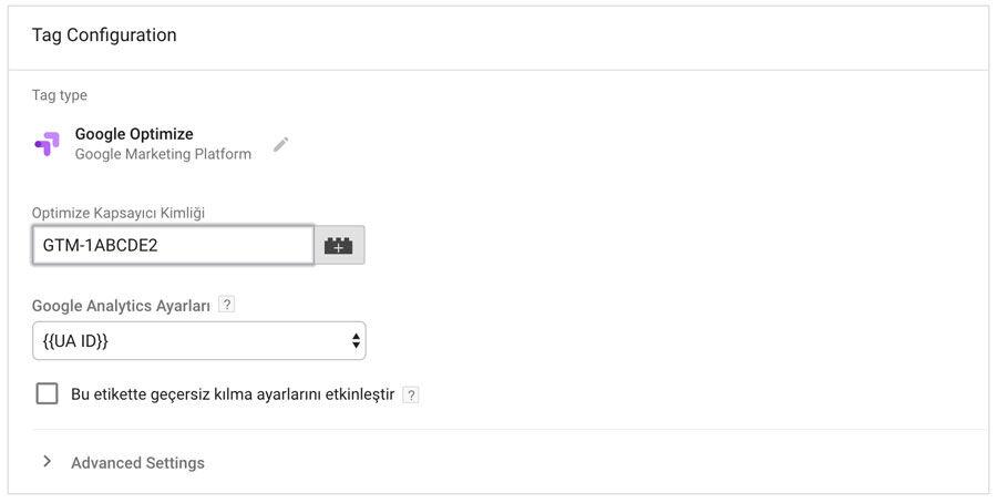 Google Tag Manager ve Google Optimize Yönetimi