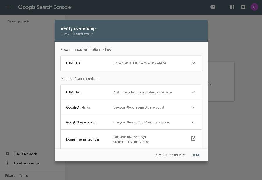 Search Console Doğrulama Yöntemleri
