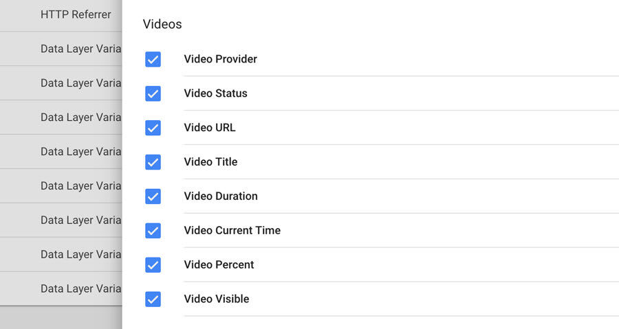 Google Tag Manager - Video Events