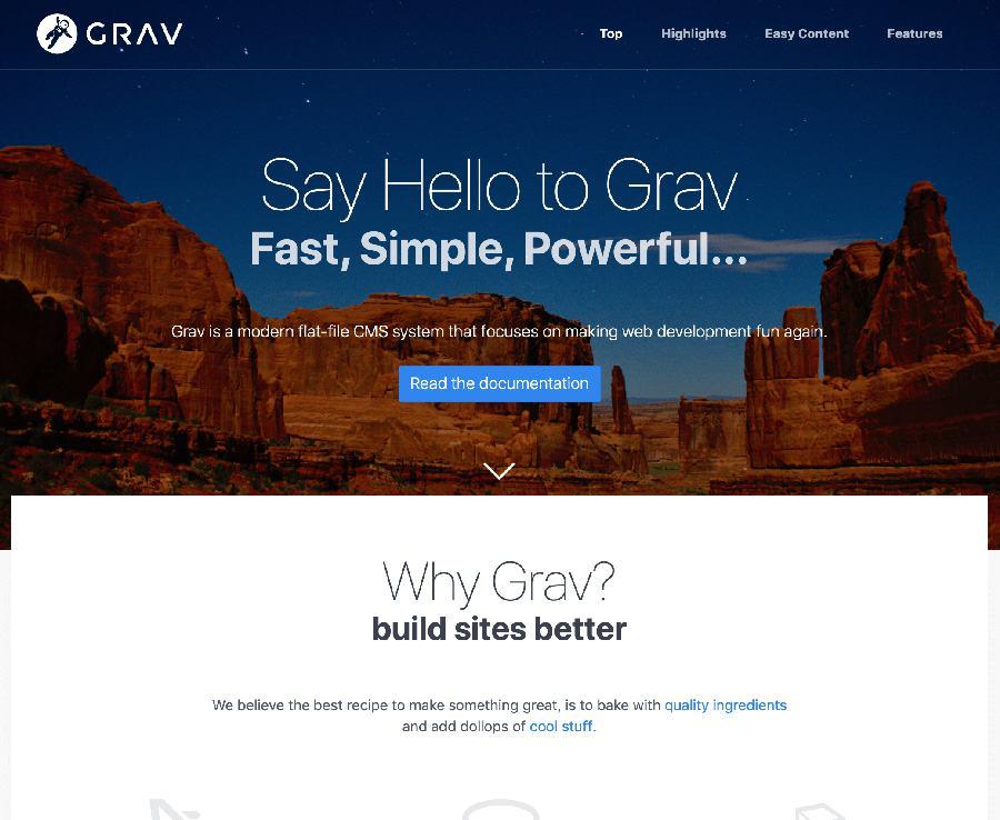 Grav CMS Modular Page