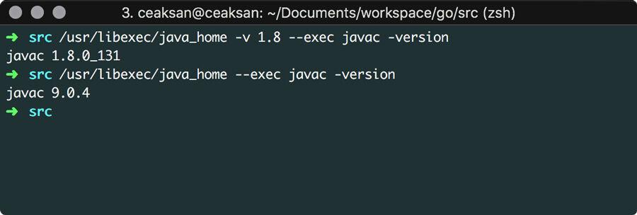 Java version macos