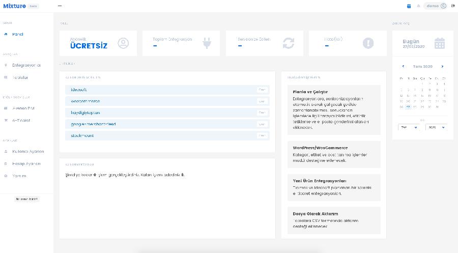 Mixture API Entegrasyonu