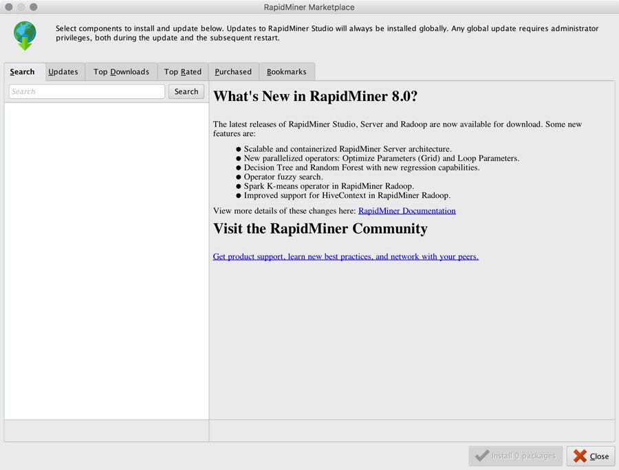 Rapidminer marketplace