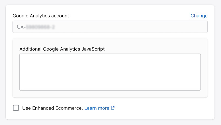 Shopify - Google Analytics