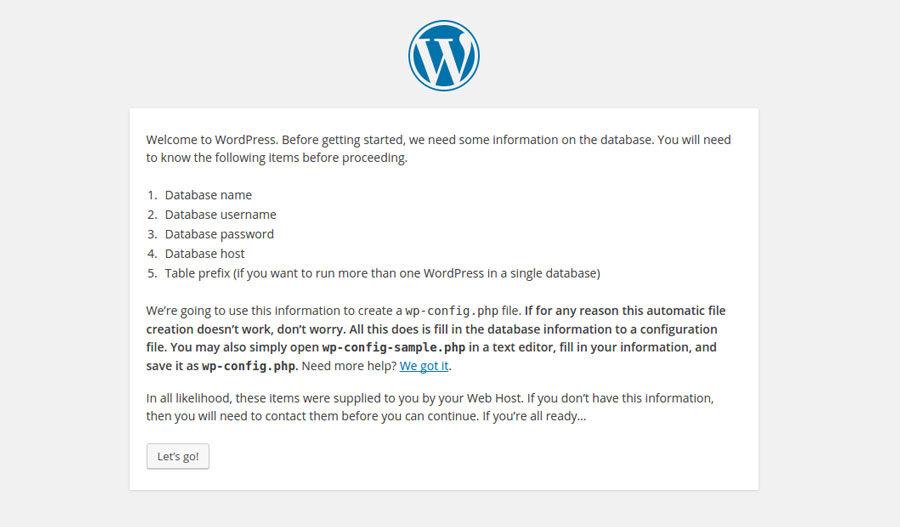 Wordpress db
