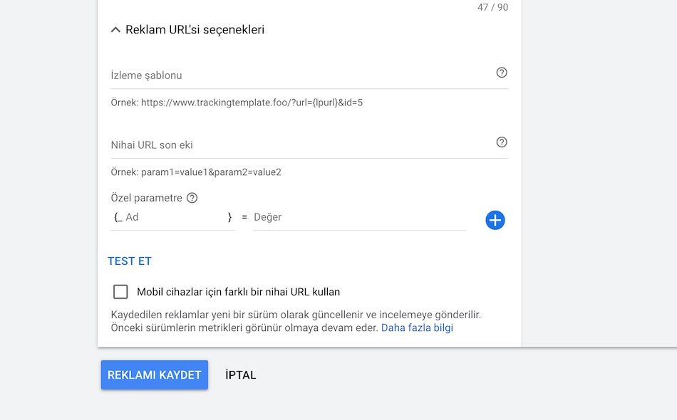 Facebook - URL Parametre işlemleri