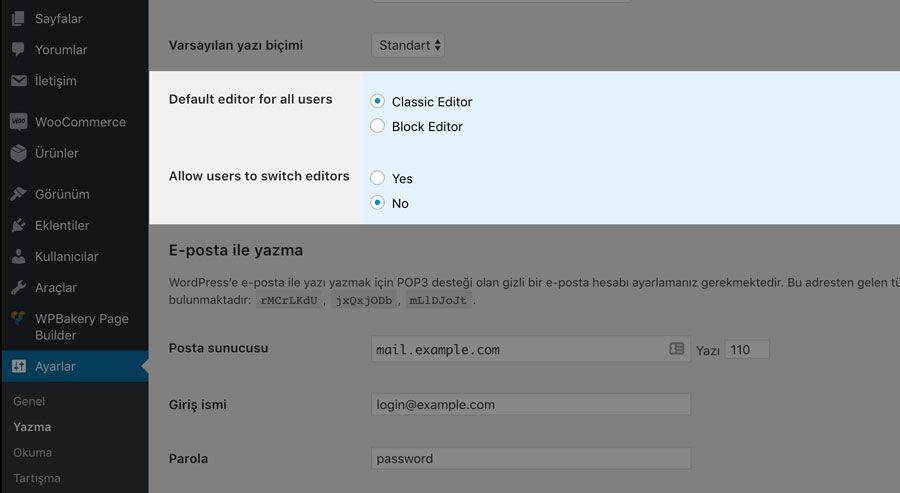 WordPress Yazı Editörü