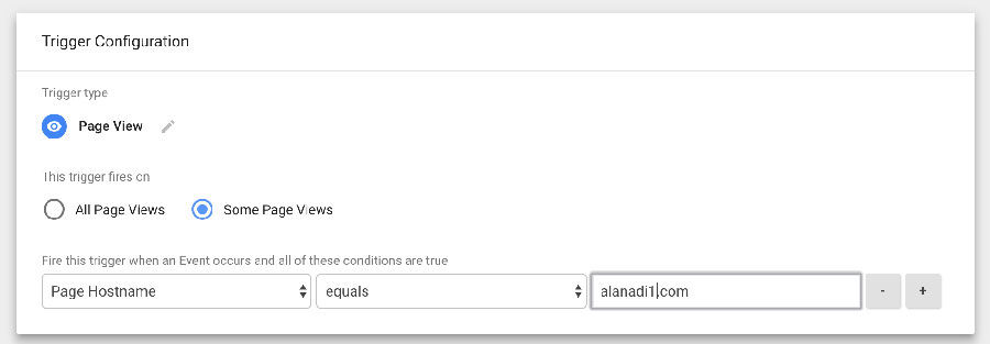 Google Tag Manager - Domain Trigger