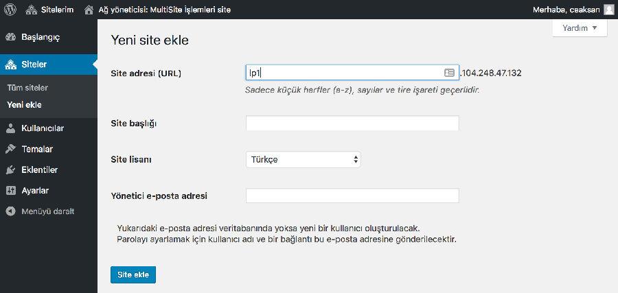 WordPress MU Kurulumu