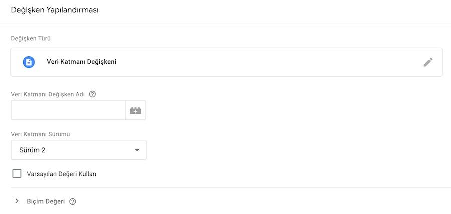 Google Tag Manager - Data Layer Variable